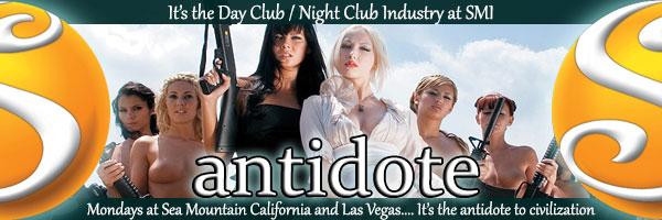 Antidote - Mondays at Sea Mountain California and Las Vegas