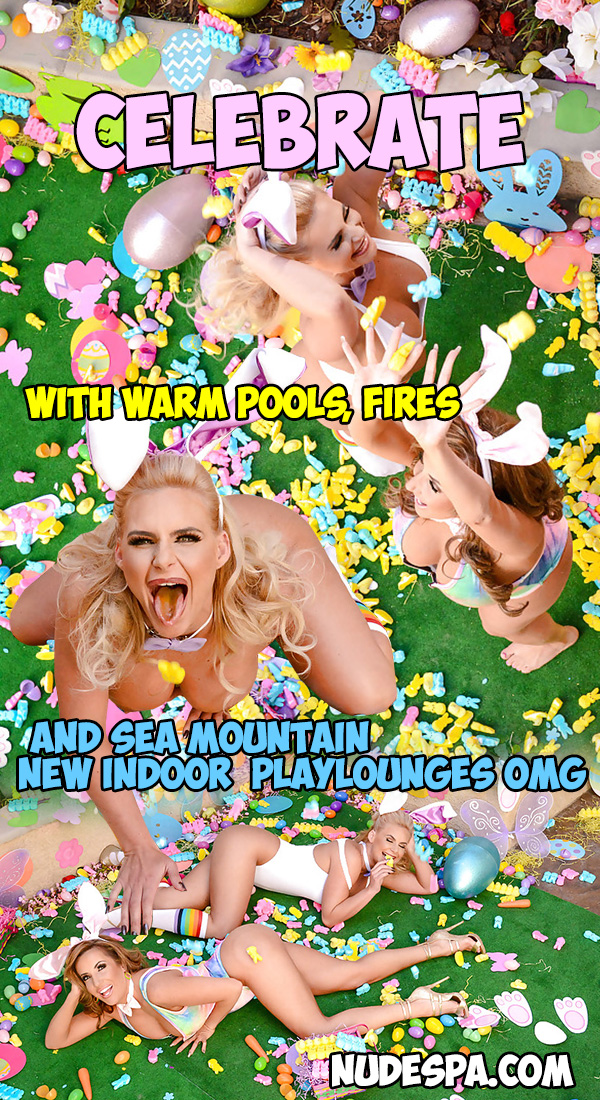 Celebrate with warm pools, fires and Sea Mountain New indoor playlounges OMG