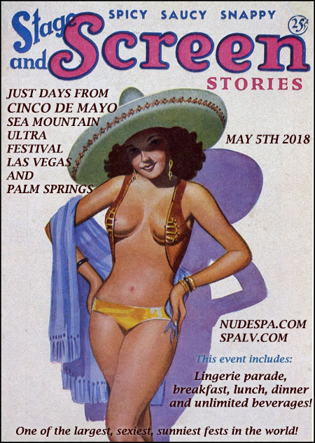 Cinco de Mayo Special Events at Sea Mountain Nude Lifestyles Spas and Resorts Las Vegas and Palm Springs
