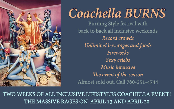 Sea Mountain Nude Lifestyles Spa Resorts Palm Springs and Las Vegas - Coachella TOO and the Burning Event THE BURN