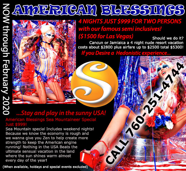 Sea Mountain Nude Lifestyles Resorts - American Blessings Special Offers