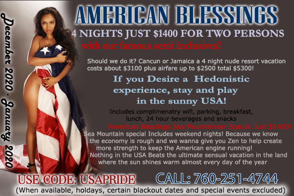 Sea Mountain Nude Lifestyles Resorts and Spas - American Blessings Special Offer