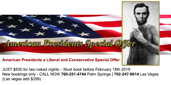 Sea Mountain Nude Lifestyles Spa Resorts Las Vegas and Palm Springs - American Presidents Special Offer