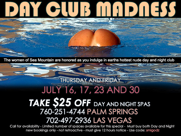 Sea Mountain Nude Lifestyles Spa Resort - Day Club Madness