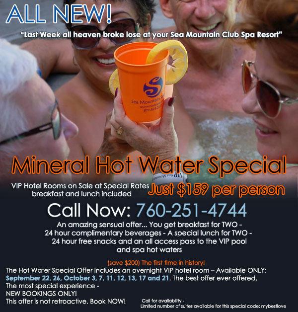 Sea Mountain Spa Hot Water Offer