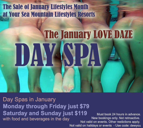 Sea Mountain Nude Lifstyles Spa Resorts - January Love Days Special Offer