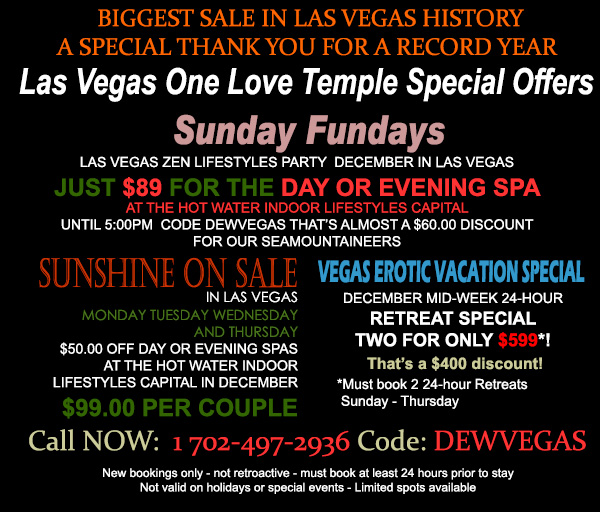 Sea Mountain Nude Lifestyles Spa Resort - Las Vegas Special Offers