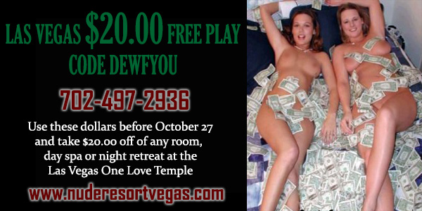 Sea Mountain One Love Lifestyles Nude Temple - Las Vegas Free Play Special Offer