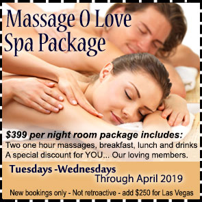 Sea Mountain Nude Lifestyles Spa Resort Las Vegas and Palm Springs - Massage O Love Special Offer