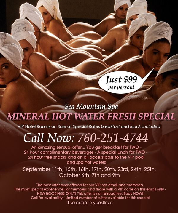 Sea Mountain Nude Lifestyles Spa Resorts - Waterworld Ocean Club Special Offer