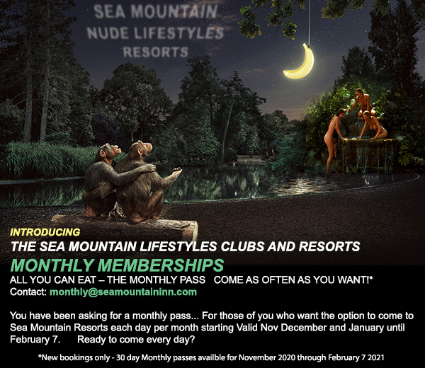 Monthly Pass - NEW Sea Mountain Come Every Day - BURN Annual All-Inclusive this Week COSTUME EVENT