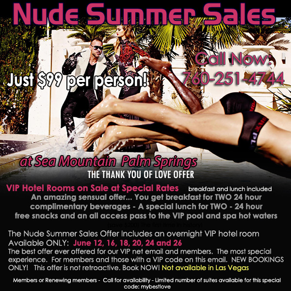 Sea Mountain Nude Lifestyles Spa Resorts - Nude Summer Sales Special Offer