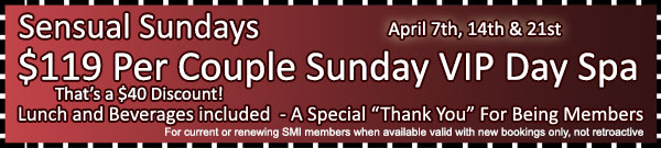 Sea Mountain Nude Lifestyles Spa - Sensual Sundays Offer