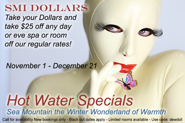 SMI Dollars $35 off day spas and overnight stays - Sea Mountain Nude Lifestyles Spa Resorts Palm Springs and Las Vegas