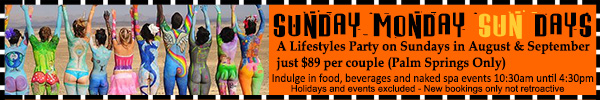 Sea Mountain Nude Lifestyles Spa Resorts Sunday SUNday Special Offer
