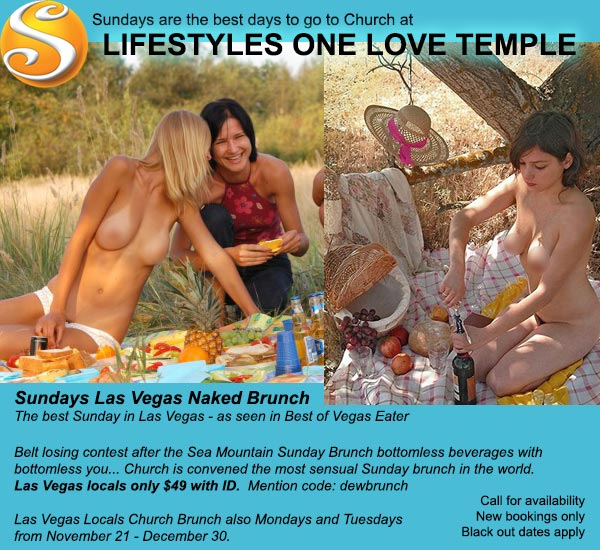 Sea Mountain One Love Temple Las Vegas Sunday Naked Brunch