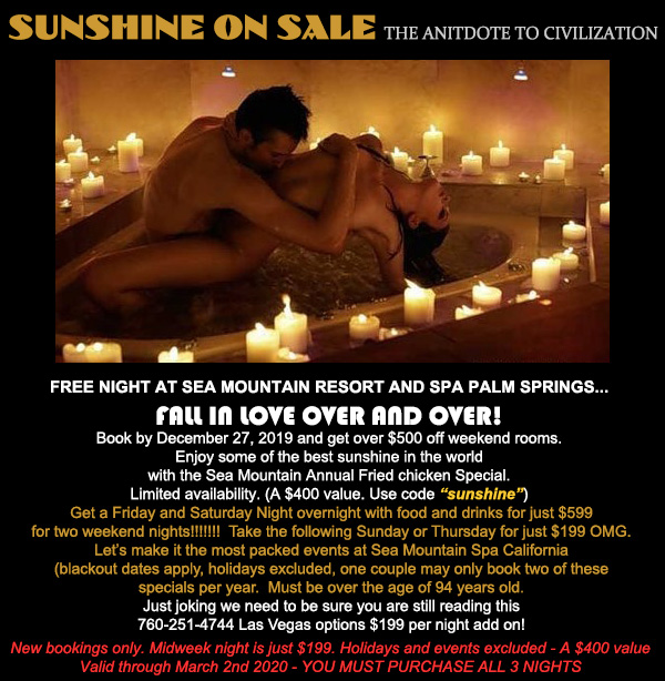 Sea Mountain Nude Lifestyles Spa Resort - Sunshine on Sale  Special