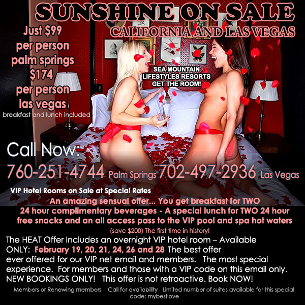 Sea Mountain Nude Lifestyles Spa Resorts Las Vegas and Palm Springs - Sunshine on Sale Special Offer
