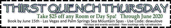 Sea Mountain Nude Lifestyles Spa Resort - Thirst Quench Thursday Special Offer