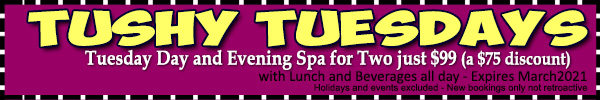 Sea Mountain Nude Lifestyles Inns and Spas - Thushy Tuesdays Offer