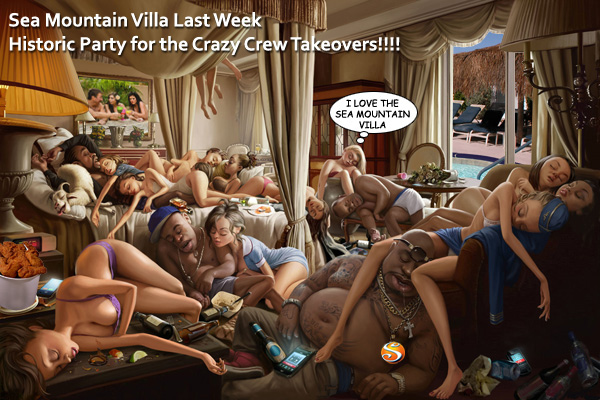 Sea Mountain Villa Last Week - Historic Party for the Crazy Crew Takeovers!!!