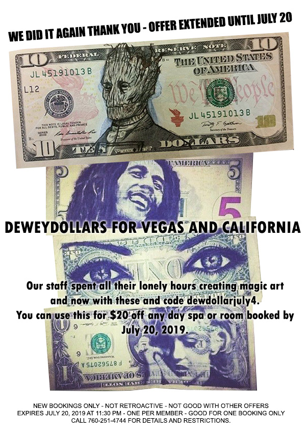 Sea Mountain DeweyDollars for Vegas and California $20 Off