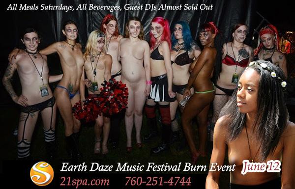 Sea Mountain Nude Spa - Earth Daze Festival Burn Event June 12