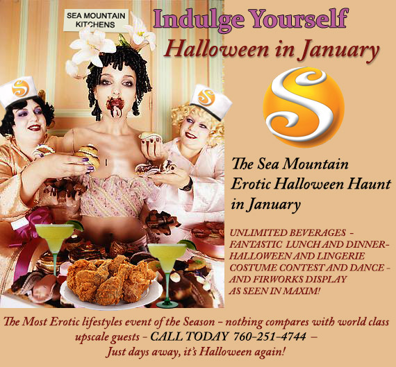 Indulge Yourself Sea Mountain Halloween in January