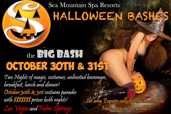 Sea Mountain Nude Lifestyles Resorts Halloween Palm Springs and Las Vegas -  Halloween Bashes October 30th and 31st