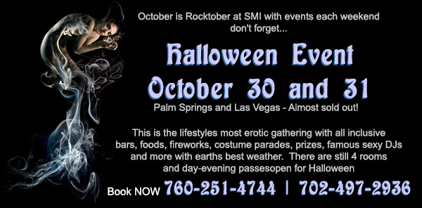 Sea Mountain Nude Lifestyles Resorts Halloween Palm Springs and Las Vegas -  October is Rocktober Halloween Bashes October 30th and 31st