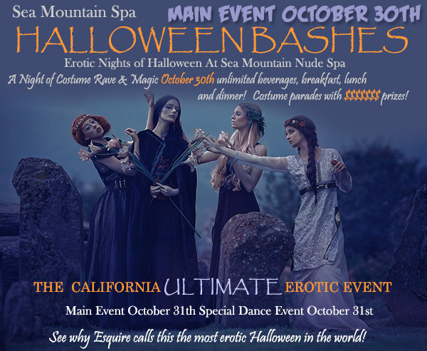 Sea Mountain Nude Spa Halloween Events October 30 and 31 2021