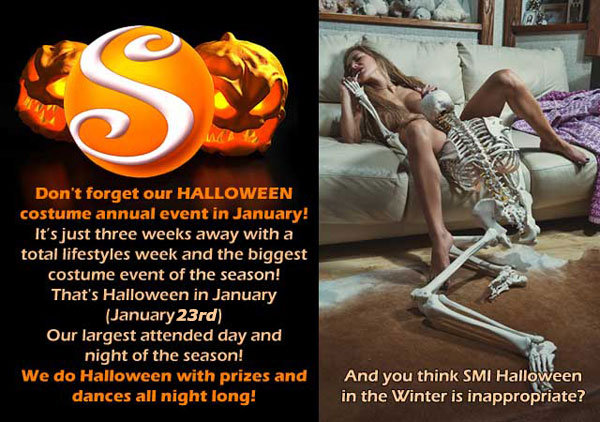 Don't forget the Sea Mountain Halloween costume annual event January 23rd