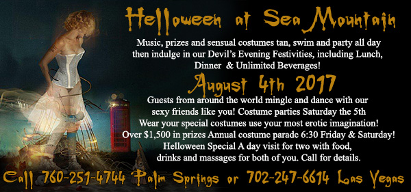 Wonderland Halloween in Summer Sea Mountain SMI Warm-up. It's BLACK OUT an All-Inclusive Event This Week LOVE