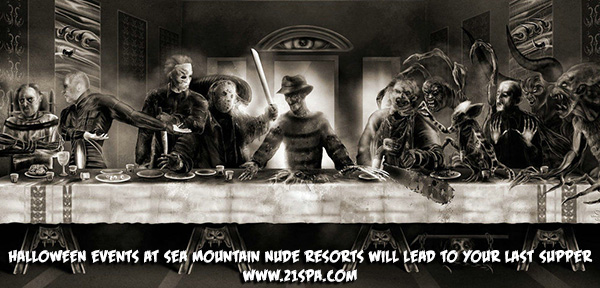 Halloween Events at Sea Mountain Nude Resorts will lead to your last supper - 21spa.com