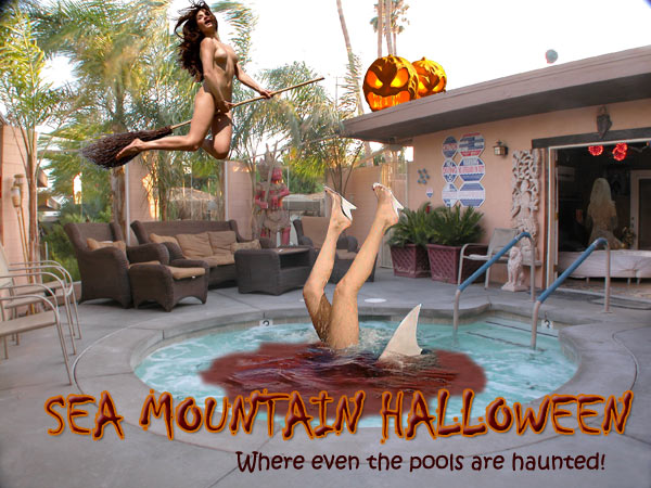 Sea Mountain Halloween whee even the pools are haunted