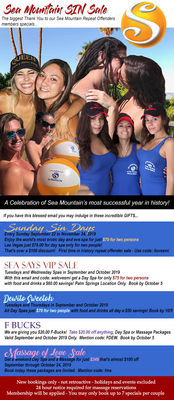 Sea Mountain Nude Lifestyles Spa Resorts - Repeat Offenders Special Offers