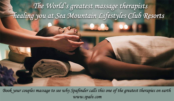 The worlds finest massage therapists healing you at Sea Mountain Lifestyles Club Resorts