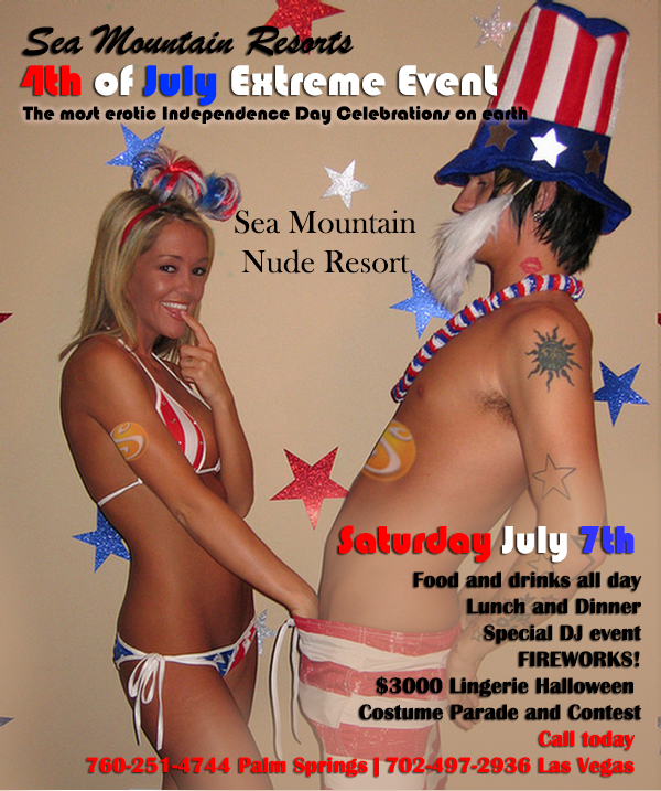 Sea Mountain Nude Lifestyles Spa Resorts Palm Springs and Las Vegas Independence Day Events