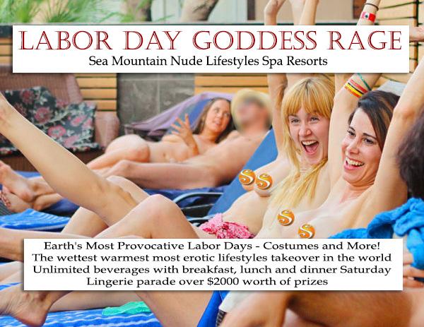 Sea Mountain Nude Lifestyles Spa Resorts Las Vegas and California Labor Day Celebrations