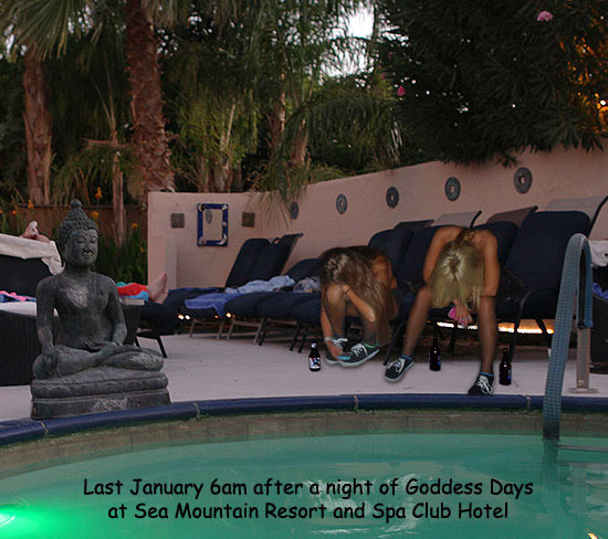 Last January 6am after a night of Goddess Days at Sea Mountain Resort and Spa Club Hotel