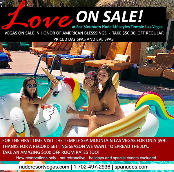 Love on Sale Sale Special Offer - Sea Mountain Nude Lifestyles Spa Resort