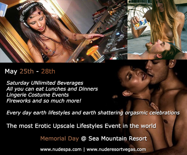 Memorial Day Specia Events at Sea Mountain Nude Lifestyles Spa Resorts Palm Springs and Las Vegas