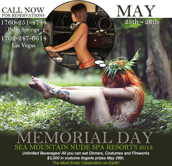 Memorial Day Special Events at Sea Mountain Nude Lifestyles Resorts