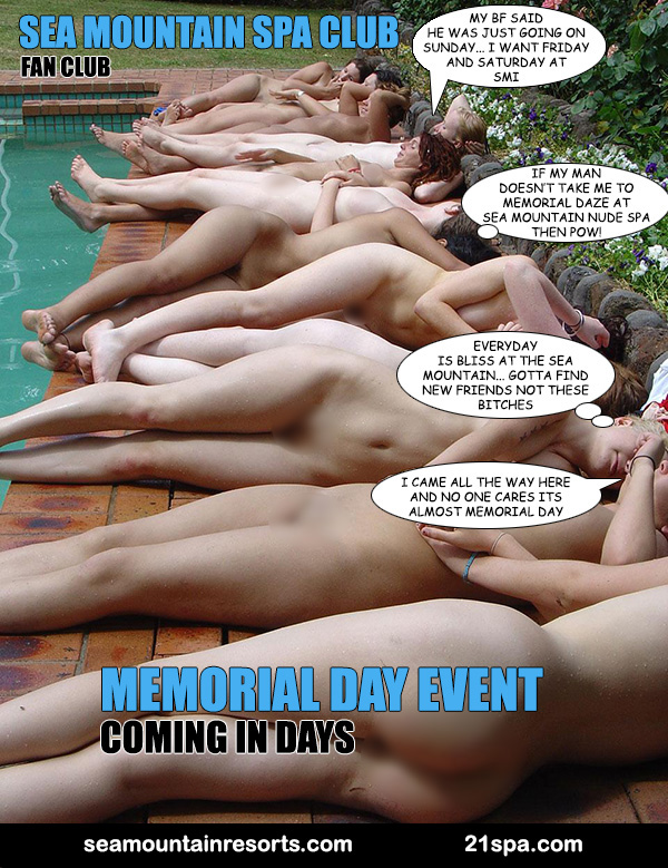 Sea Mountain Nude Lifestyles Spa - MEMORIAL DAZE - THE ANNUAL EVENT