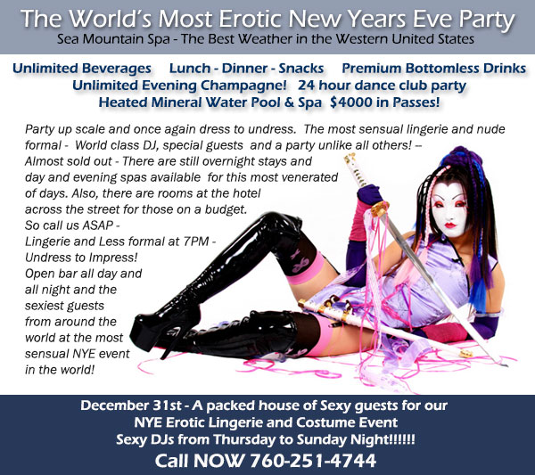 Sea Mountain Nude Lifestyles Spa Resorts New Years Eve Special Events