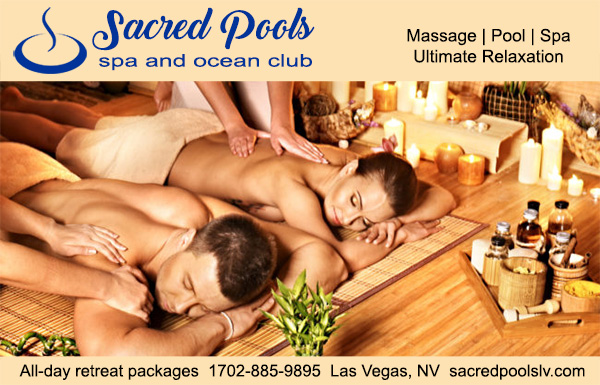 Sacred Pools Spa and Ocean Club Las Vegas 702-885-9895 Massage and Pool Club an all New Sea Mountain Spa Day Club in Las Vegas right across the street from the Hard Rock Hotel