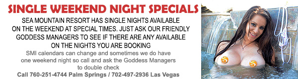 Single Weekend Nights Specials - Sea Mountain Resort has single nights available on the weekend at special times.  Just ask our friendly Goddess managers to see if there are any available on the nights you are booking.