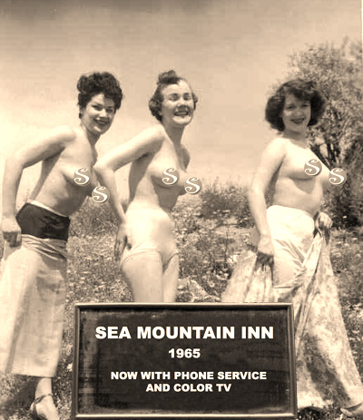 Sea Mountain Inn 1965 now with phone service and color tv