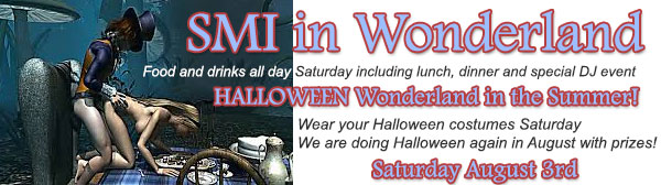 Halloween in Summer is Coming - The Private Opening Evite for Wonderland at Sea Mountain Lifestyles SMI NEWS