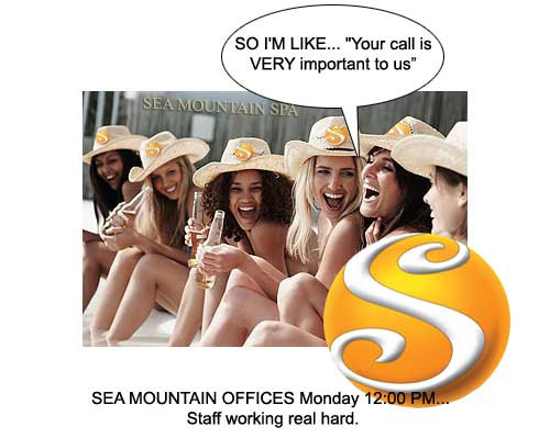 Sea Mountain Offices Monday 12:00PM - Staff working real hard